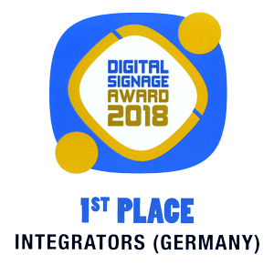 Digital Signage Award 2018 1st Place