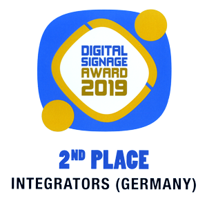 Digital Signage Award 2019 2nd Place