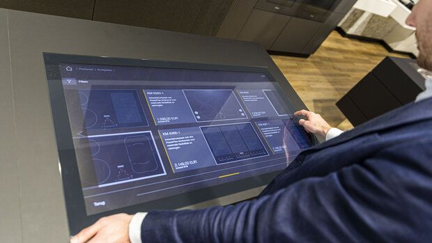 Beartungsapplikation Kiosk Solution Kochfelder Miele Smec Amsterdam