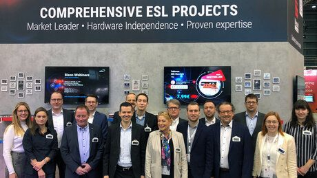Bison's and xplace's staff at EuroShop 2020
