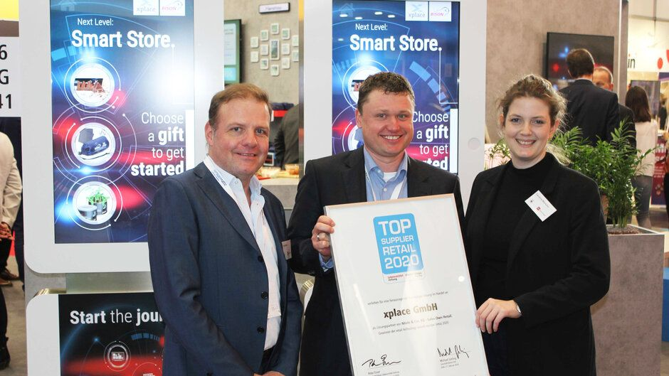 xplace receives the Top Supplier Retail Award 2020 of the EHI Institute