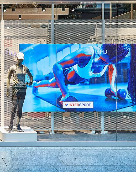 LED-Wall Intersport Digitalisierungsproject